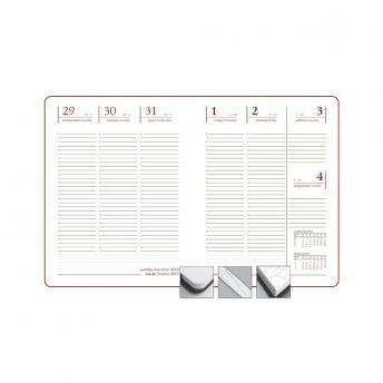 Еженедельник Nebraska датированный 20 x 26 см - Бордовый QQ