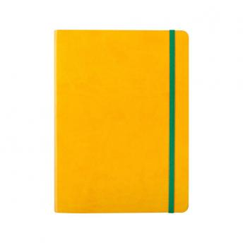 Записная книжка BiColor в линейку / клетку 15.5 x 21 см - Желтый KK