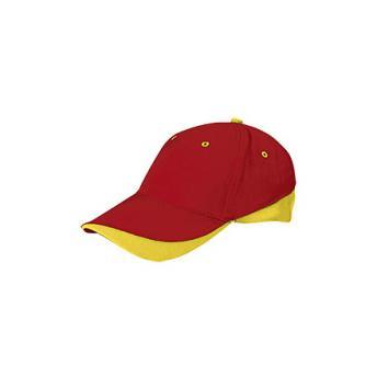 Бейсболка TUXTON (цветная) - Красный PP