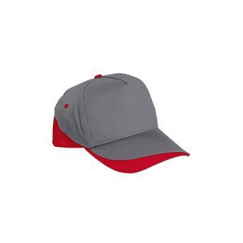 Бейсболка FORT (серая) - Красный PP