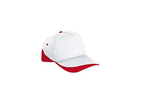 Бейсболка FORT (белая) - Красный PP
