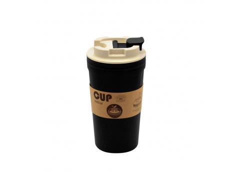 Бутылка для воды Eco water из бамбукового волокна - Черный AA