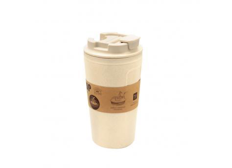 Бутылка для воды Eco water из бамбукового волокна - Бежевый BG
