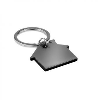 Брелок металлический Дом - Черный AA