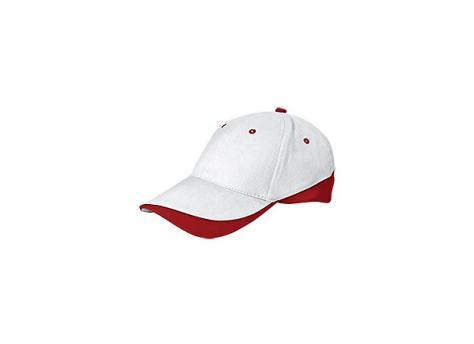 Бейсболка TUXTON (белая) - Красный PP
