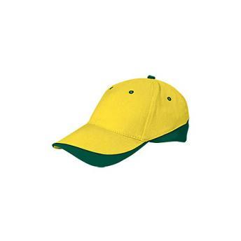 Бейсболка TUXTON (цветная) - Желтый KK