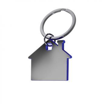 Брелок металлический Дом - Синий HH