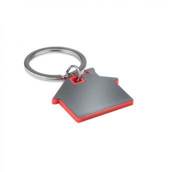 Брелок металлический Дом - Красный PP
