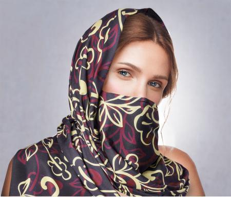 Платок с карманом для фильтра или без него, просто красивый платок