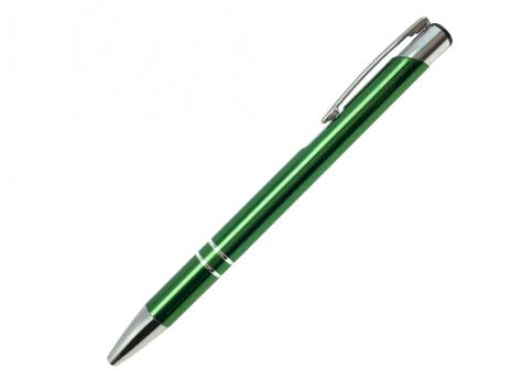 Ручка шариковая, COSMO, металл, зеленый/серебро артикул SJ/GR pantone 7483 C