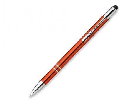 Ручка шариковая, металл, оранжевый Oleg Slim артикул 12574-60