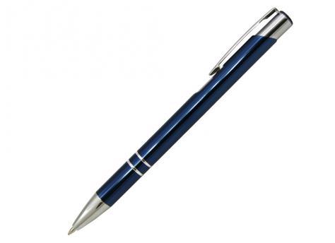 Ручка шариковая, COSMO, металл, синий/серебро артикул SJ/BU pantone 295 C
