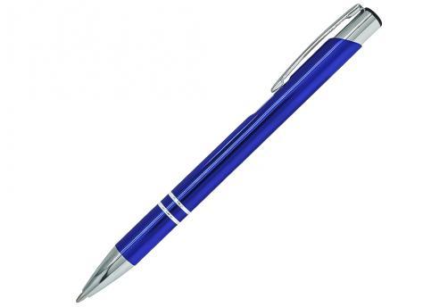 Ручка шариковая, COSMO, металл, синий/серебро артикул SJ/RBU
