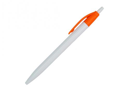 Ручка шариковая, Simple, пластик, белый/оранжевый артикул 501010-A/OR