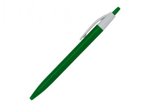 Ручка шариковая, Simple, пластик, зеленый/белый артикул 501010-B/GR