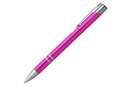 Ручка шариковая, COSMO, металл, розовый/серебро артикул SJ/DPK