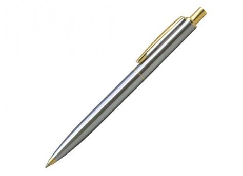 Ручка шариковая, металл, серебро/золото артикул BP-037/ST-GD