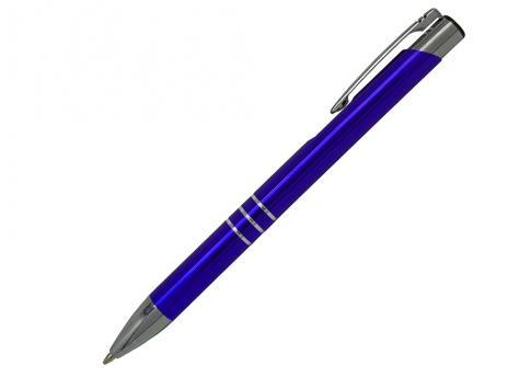 Ручка шариковая Cosmo, металл, синий/серебро артикул SJ/BU-3