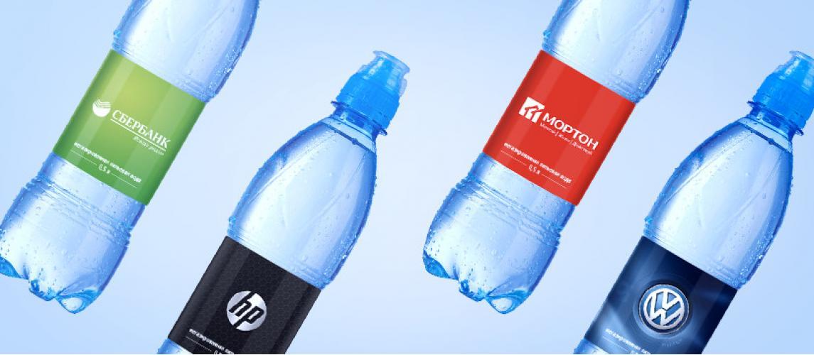 Весенне-предлетнее предложение -вода с логотипом
