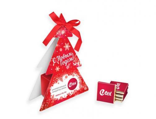 Шоколадный набор «Ёлочка» с логотипом
